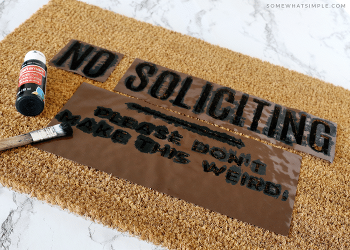 How to paint a welcome mat