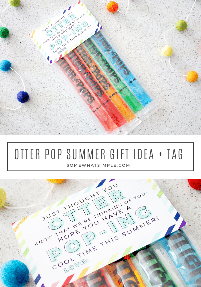 Celebrate the start of summer with neighbors and friends with this colorful Otter Pop Gift Tag. via @somewhatsimple
