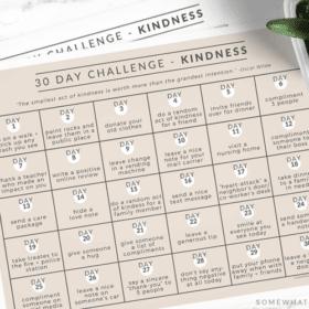 kindness challenge free printable calendar