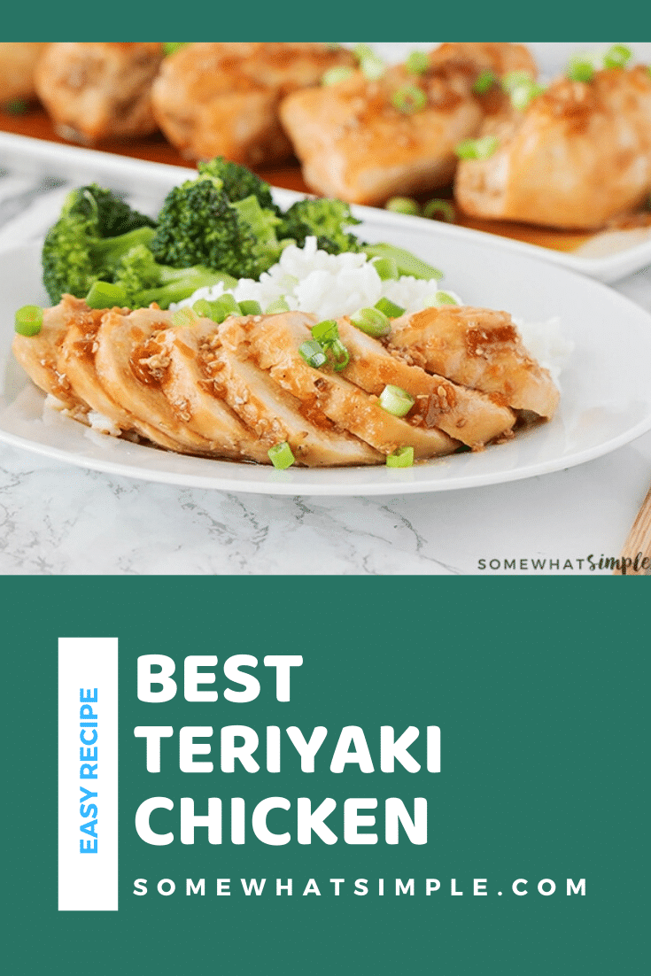 Using only 2 ingredients, this is the easiest teriyaki chicken recipe you will ever make! I'll show you how to make it in the oven and in a crock pot. Dinner will smell amazing all day and taste delicious tonight! #crockpotchickenteriyakirecipe #crockpotrecipe #howtomaketeriyakichicken #easydinner #teriyakichicken via @somewhatsimple