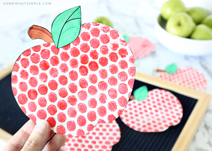 how to paint apples with bubble wrap
