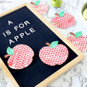 bubble wrap painting apples