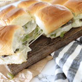 philly cheese steak sliders dinner recipe