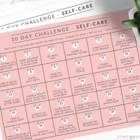 free calendar for a self care 30 day challenge