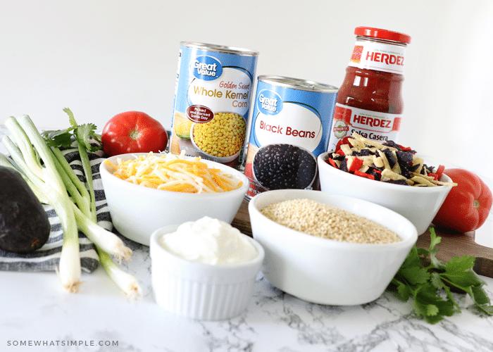 ingredients to make taco quinoa casserole