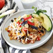 plate of quinoa taco casserole