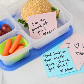easy healthy school lunches with note from mom
