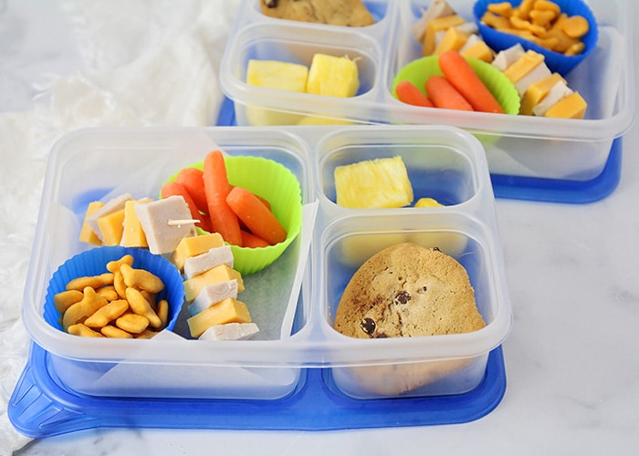 Get out of that PB&J rut and make delicious and healthy lunches for your kids with these six easy ways to make school lunch more fun!