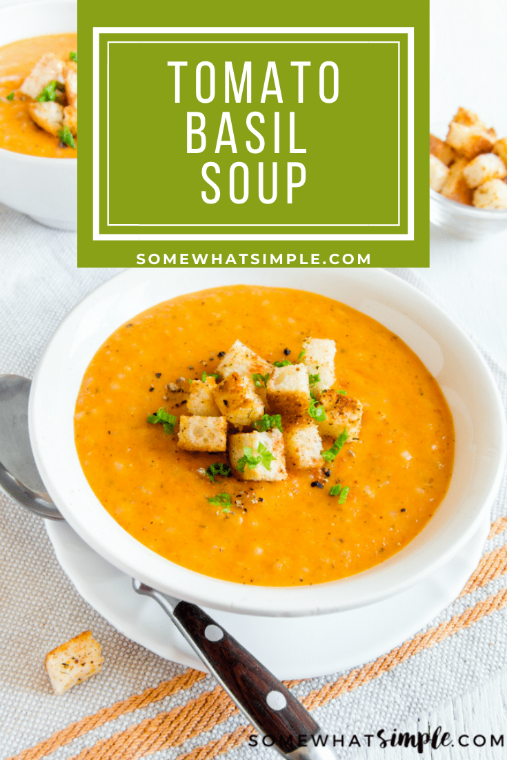 You can now make and enjoy Buddy V's famous tomato and basil soup at home. This creamy soup recipe is easy to make and the perfect meal on a cold day. It will quickly become one of your family's favorite soup recipes. via @somewhatsimple