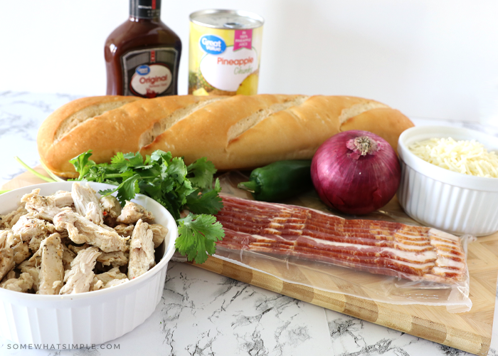 bbq chicken french bread pizza ingredients