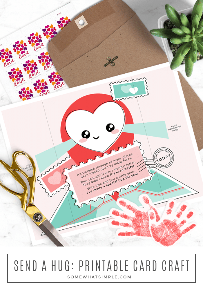 hug in the mail printable