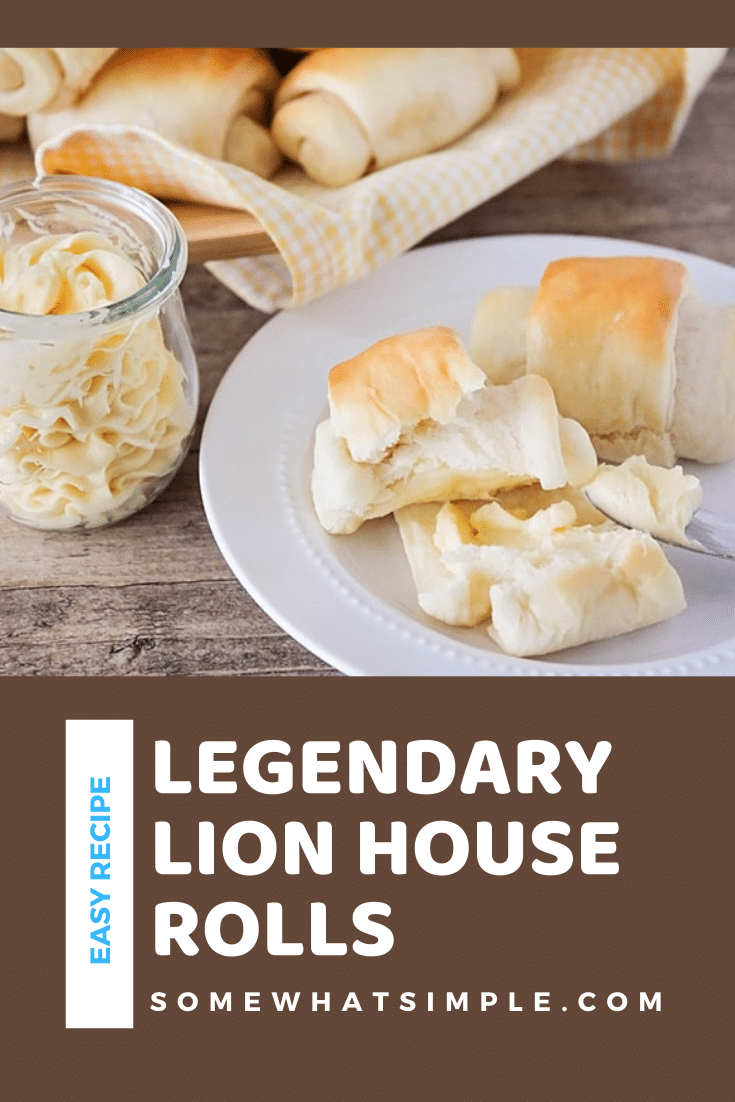 Lion House rolls are the perfect addition to any dinner or holiday meal. These dinner rolls are so good, they're legendary! If you are looking for new dinner roll recipe to try, then look no further! These legendary Lion House rolls are soft, fluffy and DELICIOUSLY sweet! They're perfect for Thanksgiving, Christmas or just a weeknight dinner at home. via @somewhatsimple