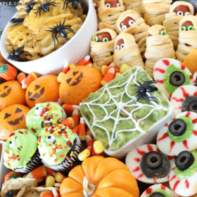 festive food for a halloween lunch for kids
