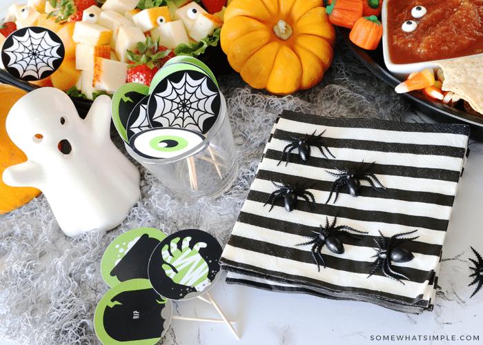 Halloween food printables