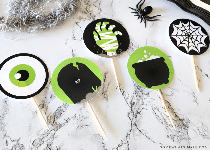 food toppers for a halloween party