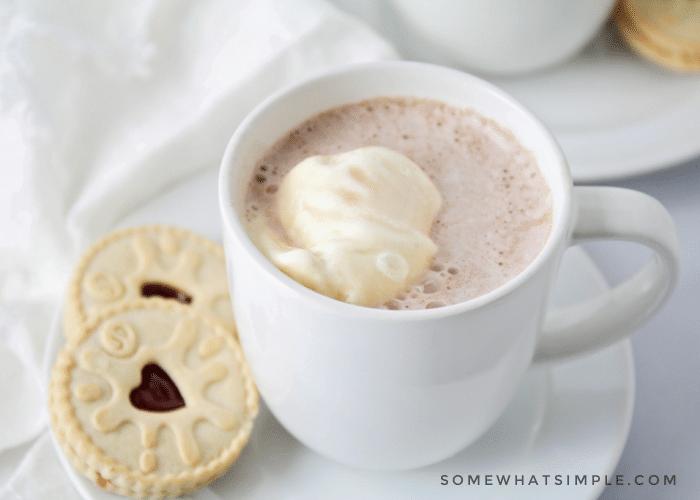 a hot chocolate milkshake