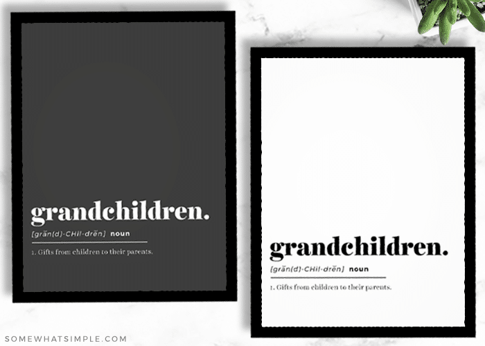 a black and white copy of a printable quote about grandchildren