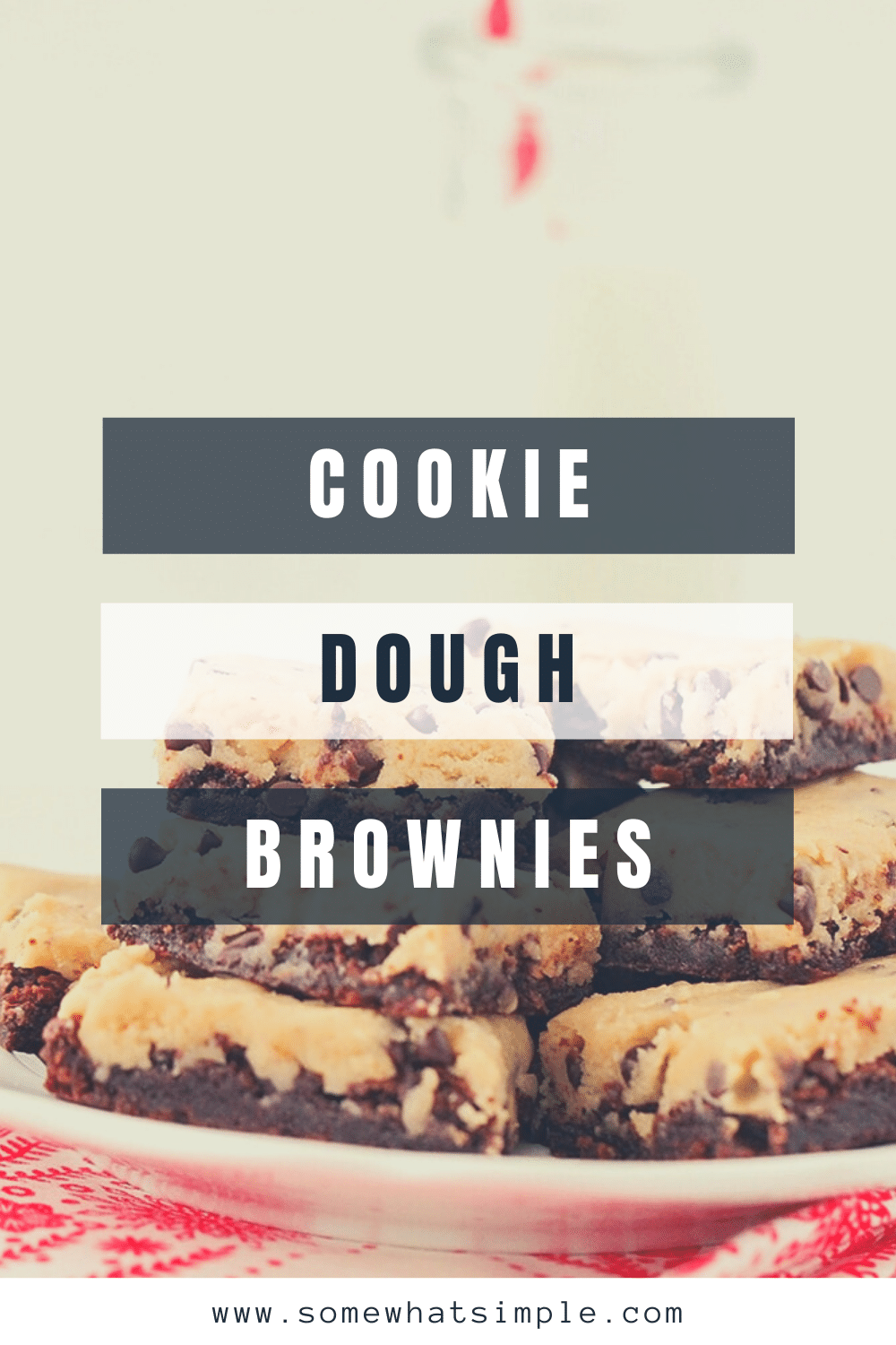 These cookie dough brownies are so rich and decadent! A fudgy chocolate brownie layer topped with eggless cookie dough, for an unforgettable dessert! They are the perfect combination of my two favorite treats; brownies and chocolate chip cookies. via @somewhatsimple