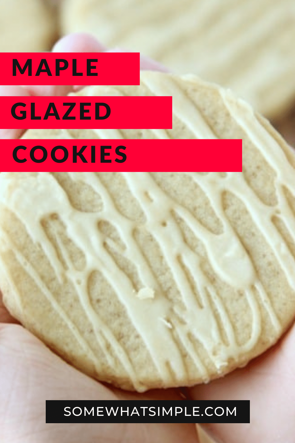 Maple sugar cookies are the perfect fall cookie recipe! A light drizzle of maple glaze is the perfect finish for these simple, delicious cookies! If you're looking for a unique and delicious cookie recipe, you're going to love these! via @somewhatsimple