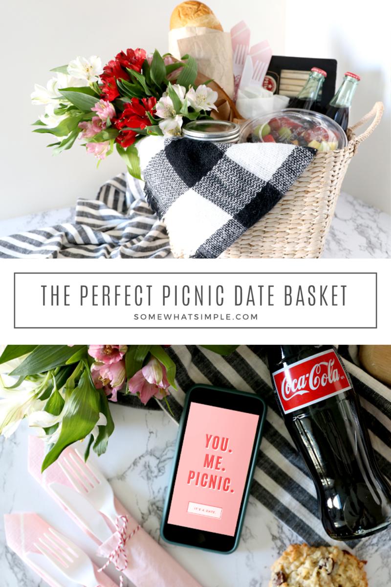collage of valentine picnic ideas