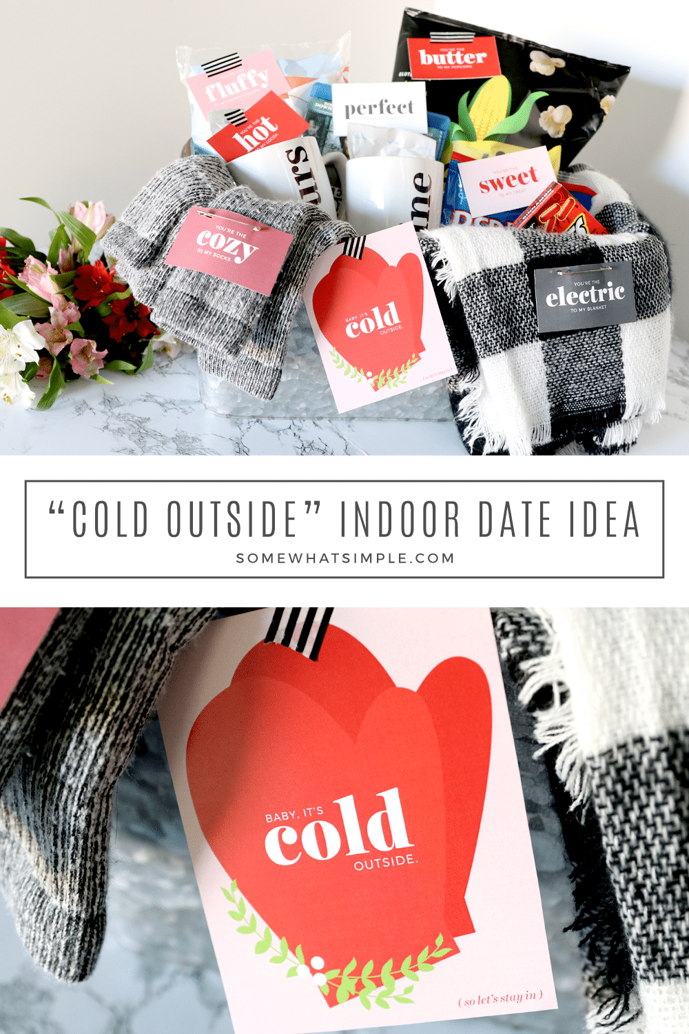 The perfect indoor date idea for the nights when it's too cold to go out! Get ready to get cozy! via @somewhatsimple