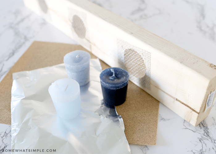 Vented Frieze Board used as a candle holder