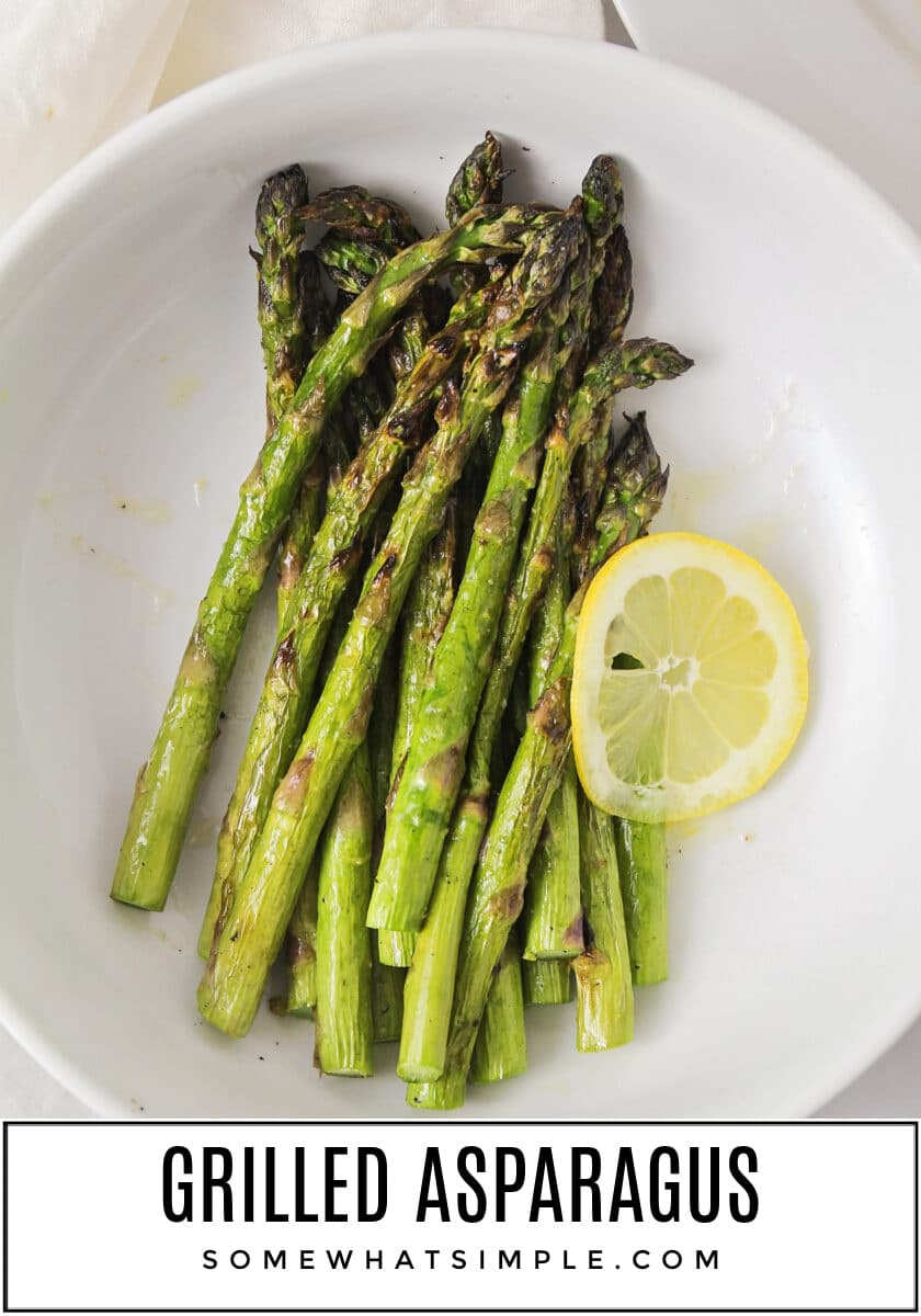 Elevate your next summer BBQ with deliciously simple Grilled Asparagus. It's healthy, flavorful, and can be ready in 10 minutes or less! via @somewhatsimple