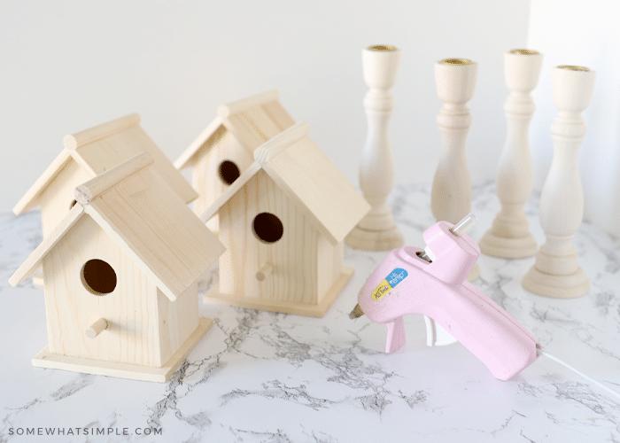 supplies needed to make a birdhouse