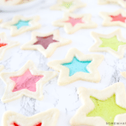 star cookies with candy center
