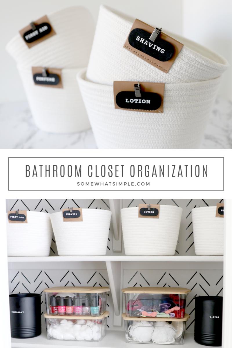 how to organize a bathroom closet