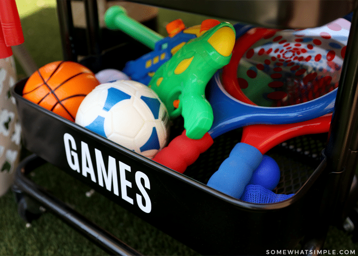 games to play outside - balls, racquets, etc.