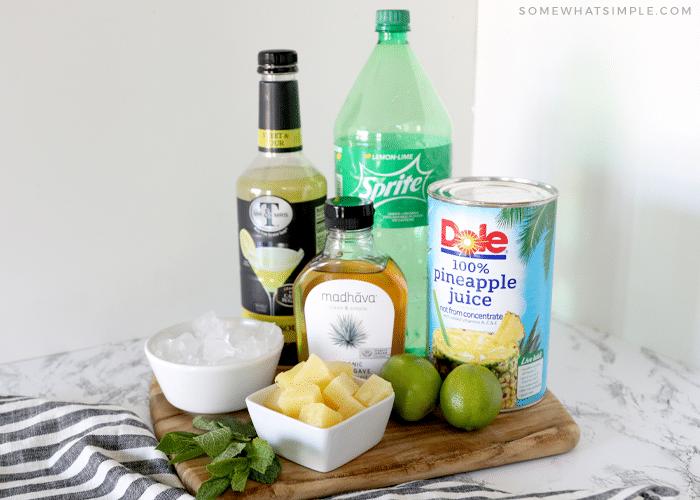 ingredients to make a pineapple margarita