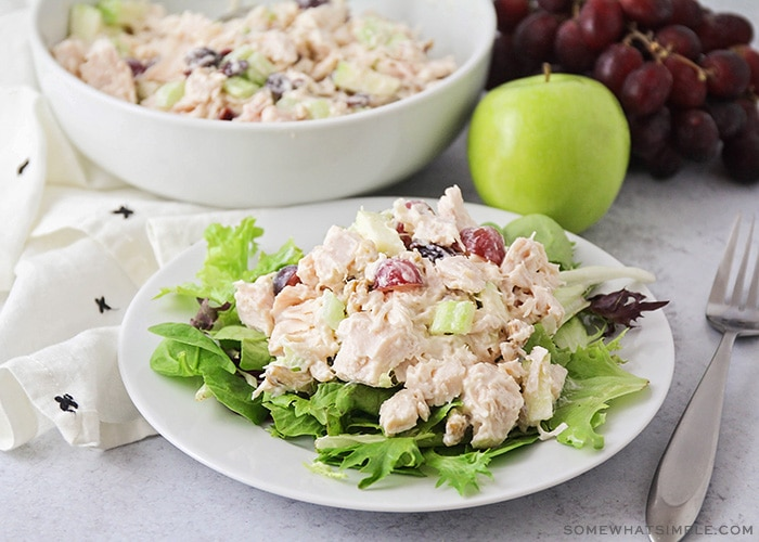 Waldorf chicken salad is the perfect elegant lunch!