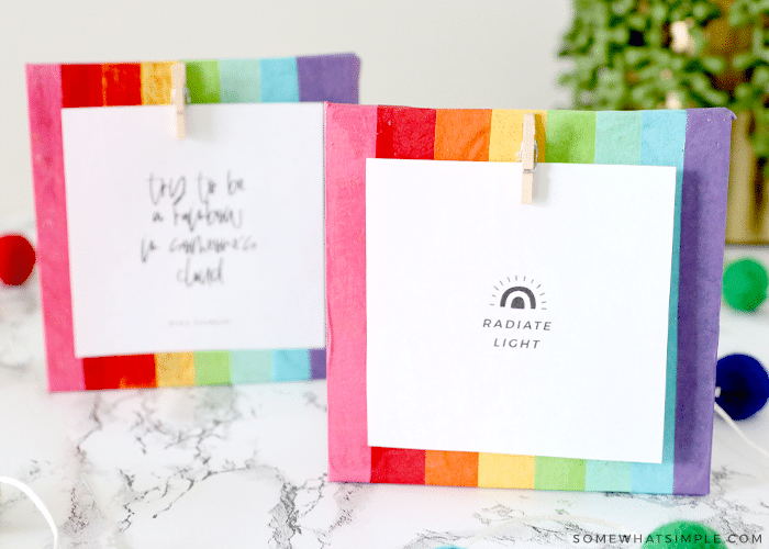 finished frames with printable quote
