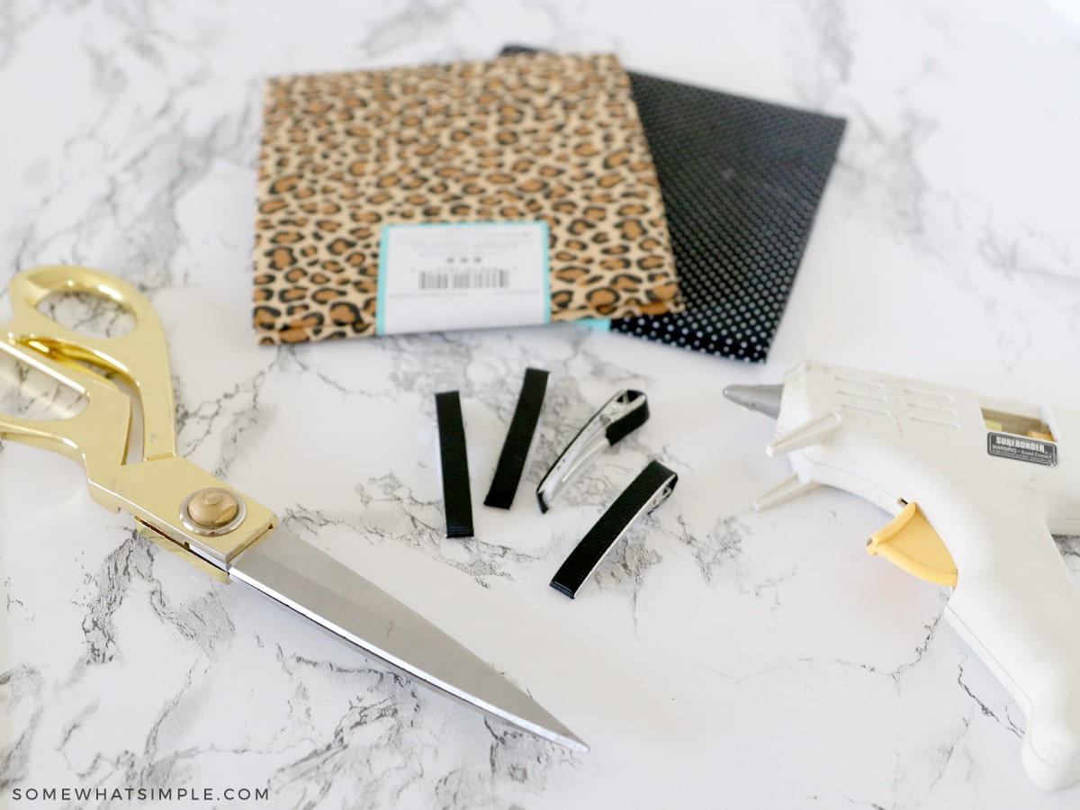 supplies needed to make a fabric hair bow