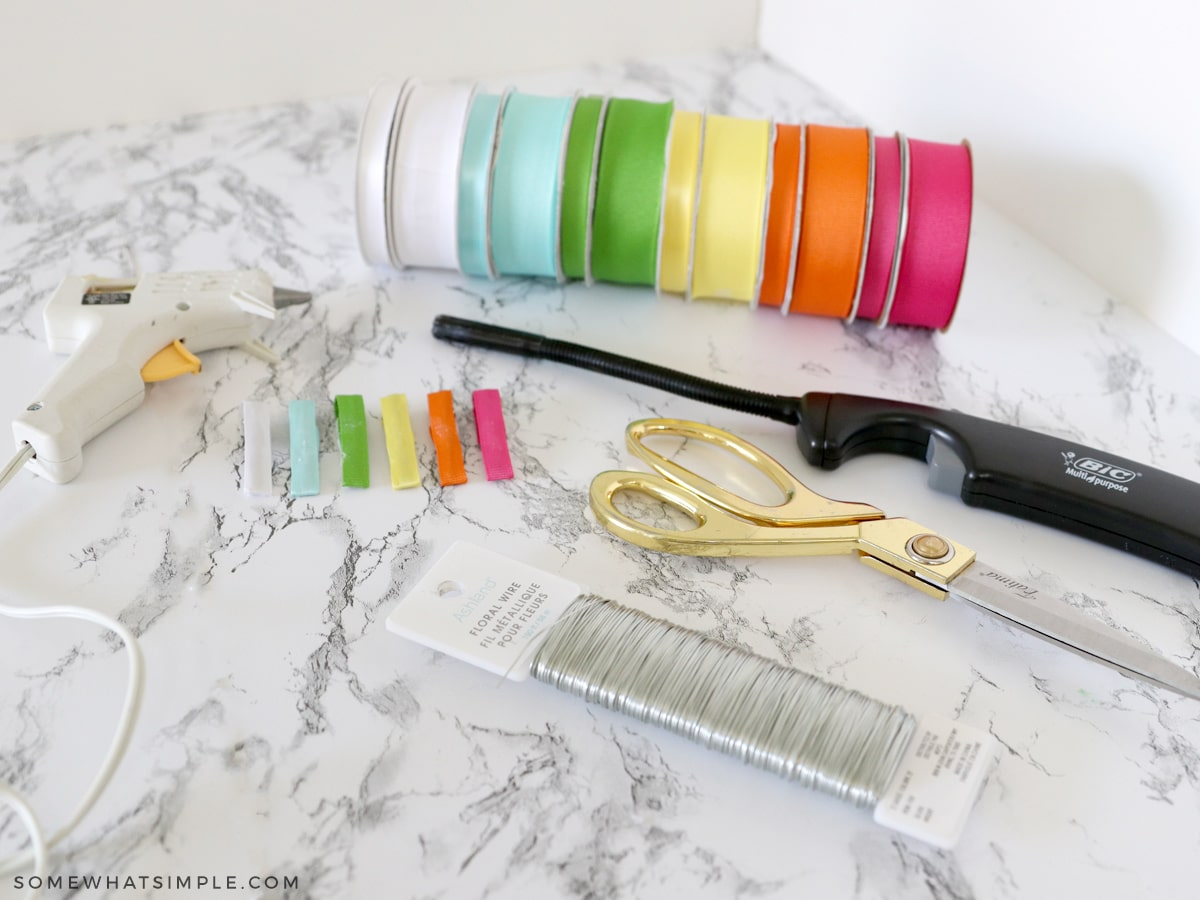 materials needed to make a hair bow