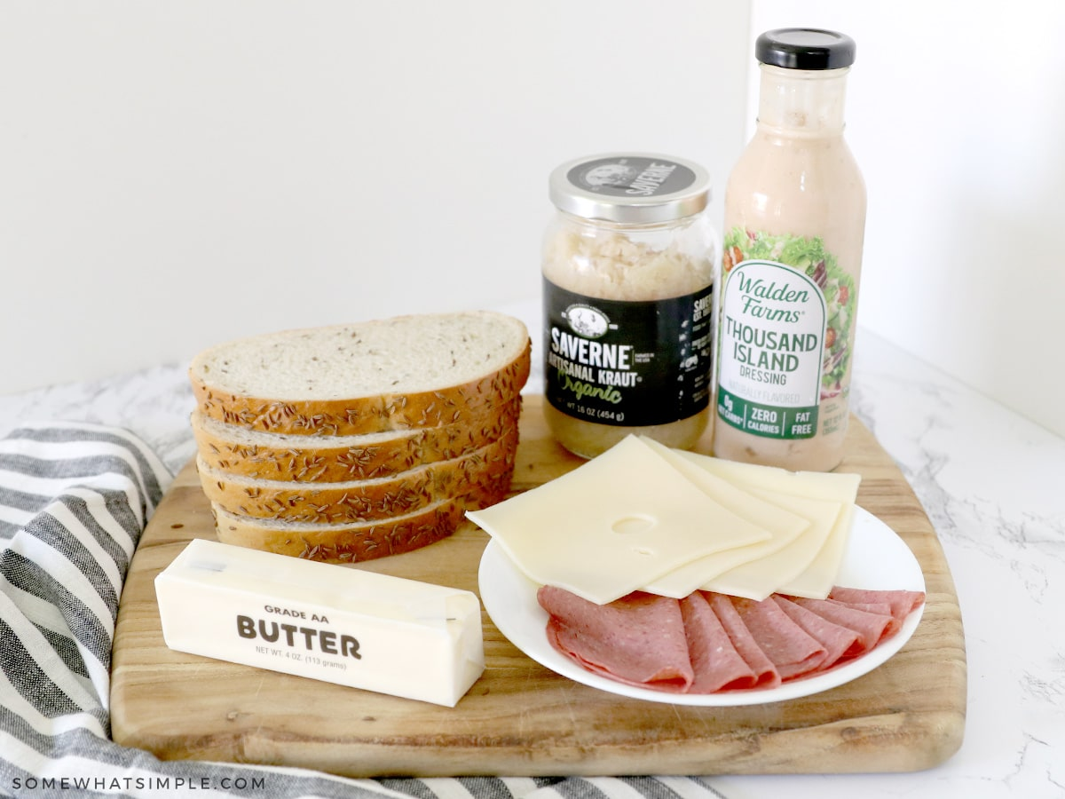 ingredients for a reuben sandwich