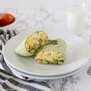 breakfast wrap on a plate