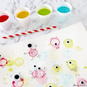 bubble painting craft for kids