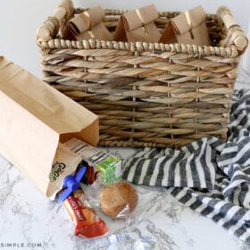 grab and go breakfast bags filled with breakfast foods