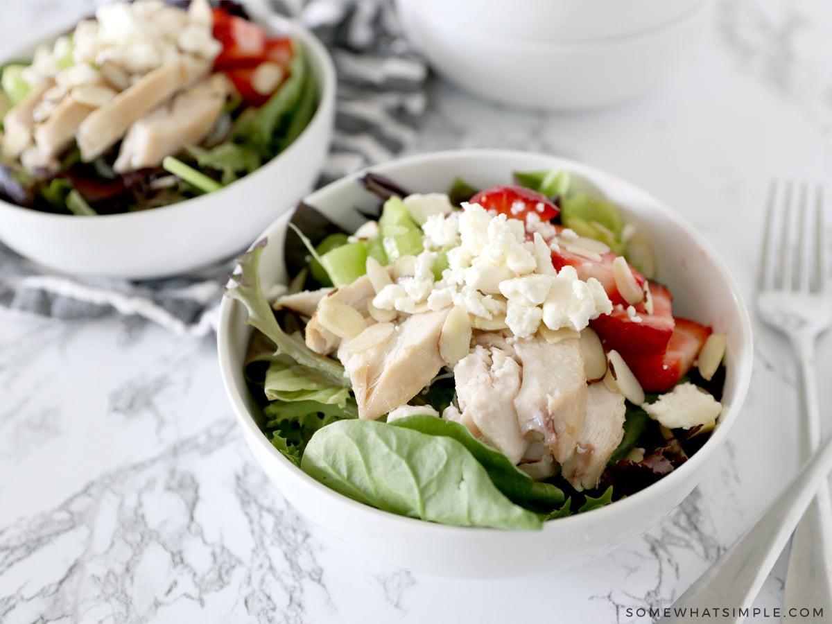 strawberry and chicken salad