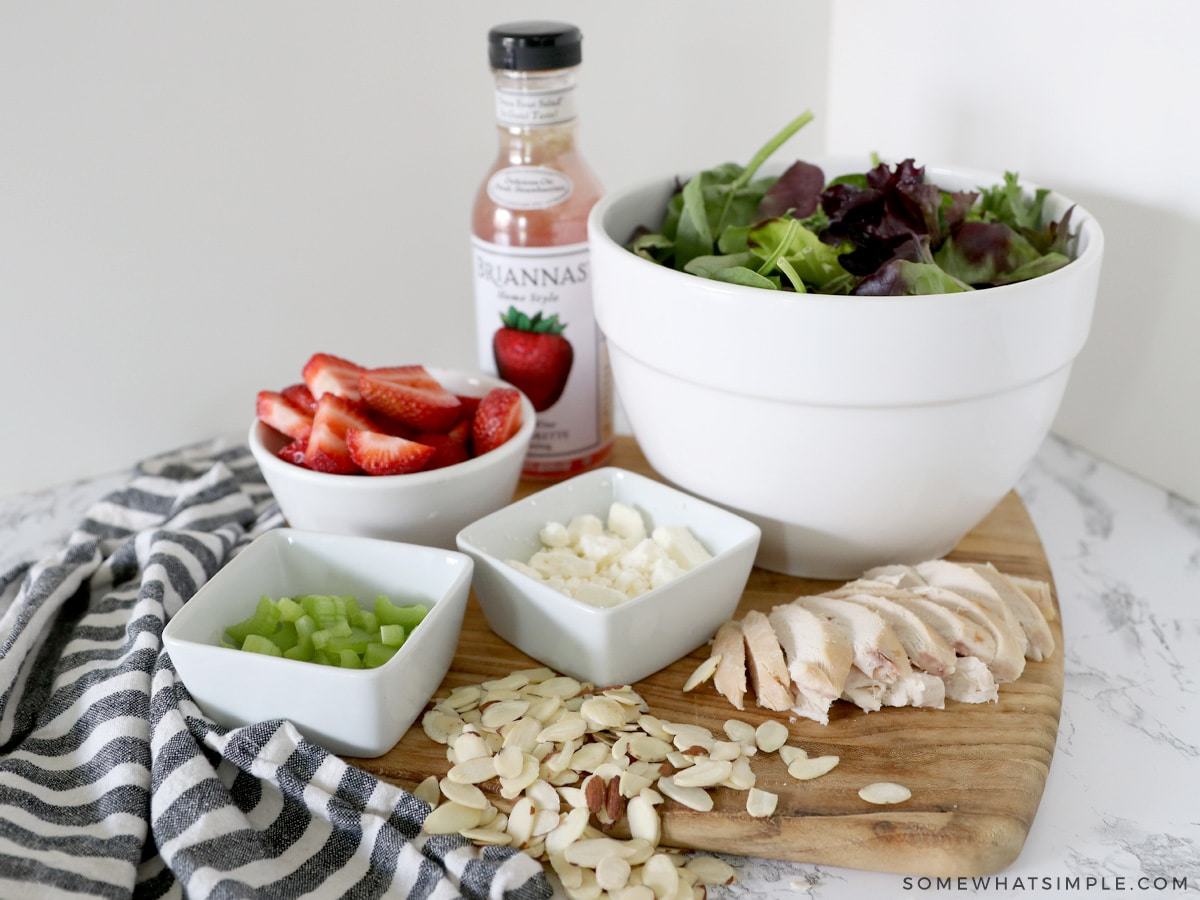 ingredients for a summer salad