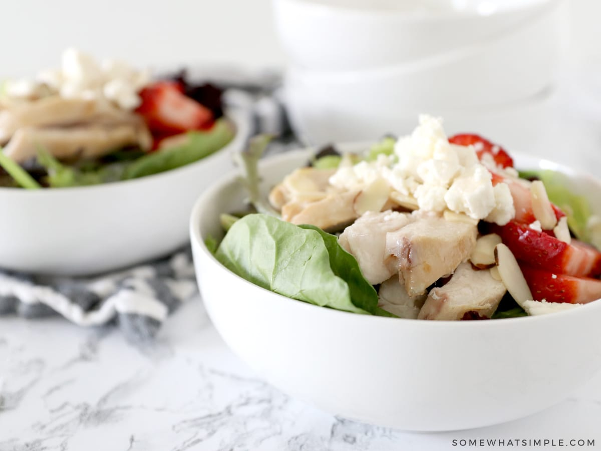 close up of a salad in a bowl