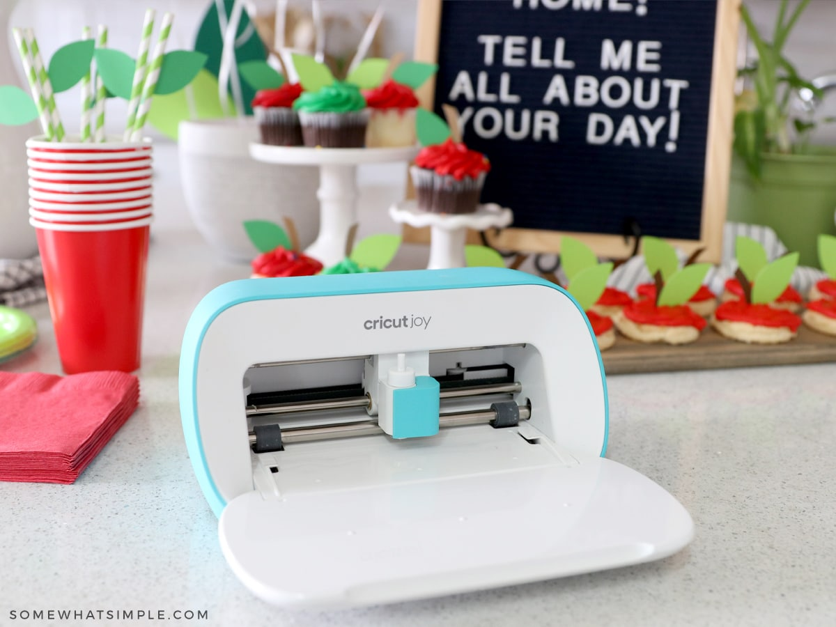 cricut joy in front of back to school party