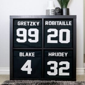 sports room jersey shelves