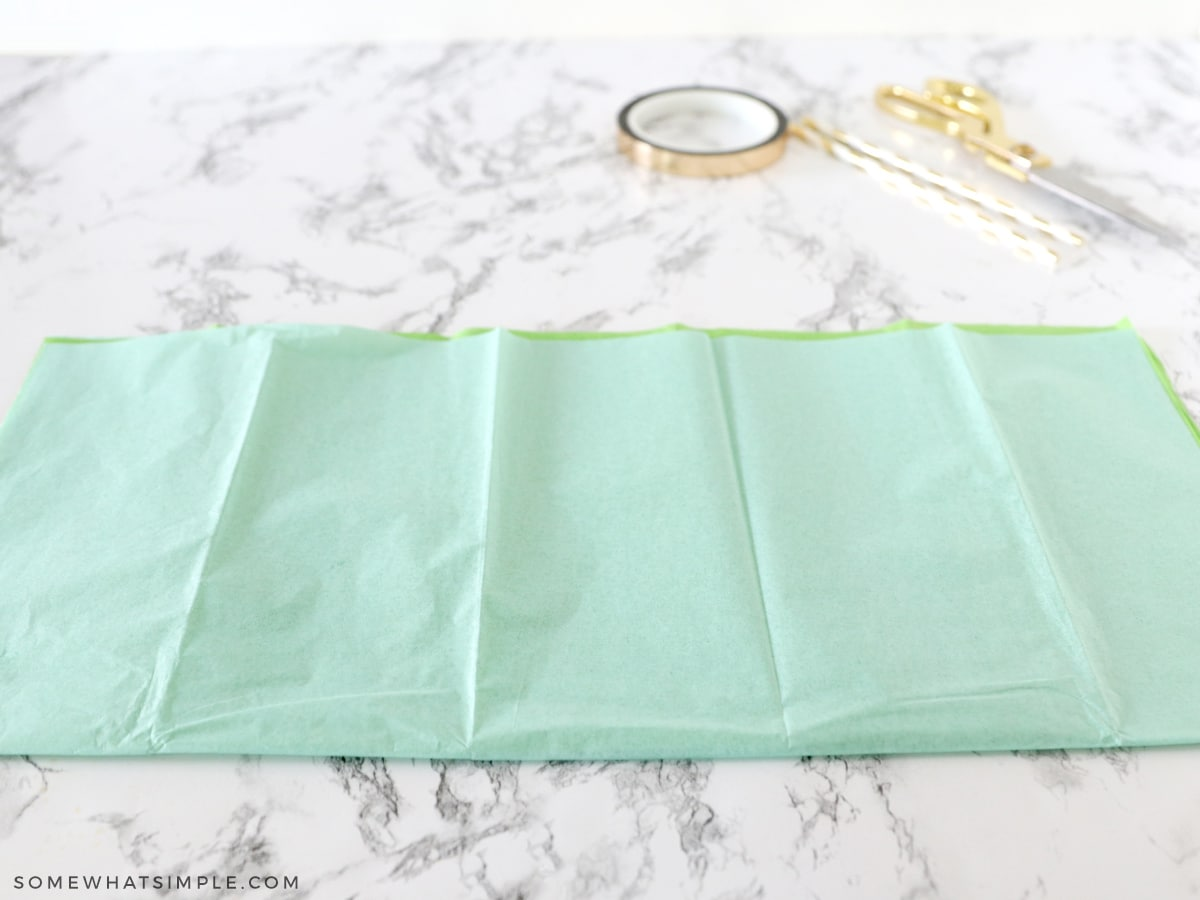 folding tissue paper in half