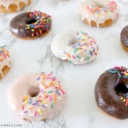 easy donut glaze on top of donuts