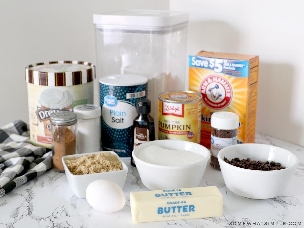 ingredients to make pumpkin sugar cookies