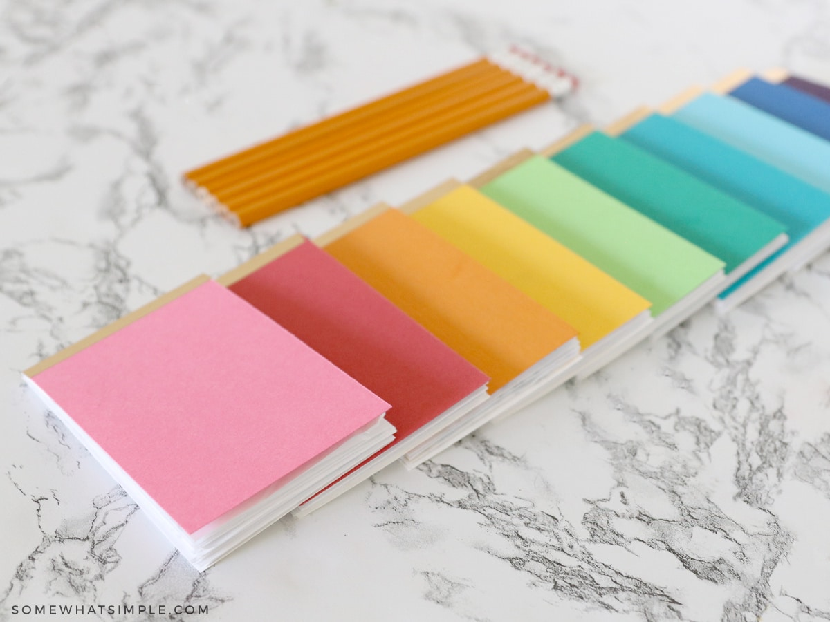 how to make your own paper notepads