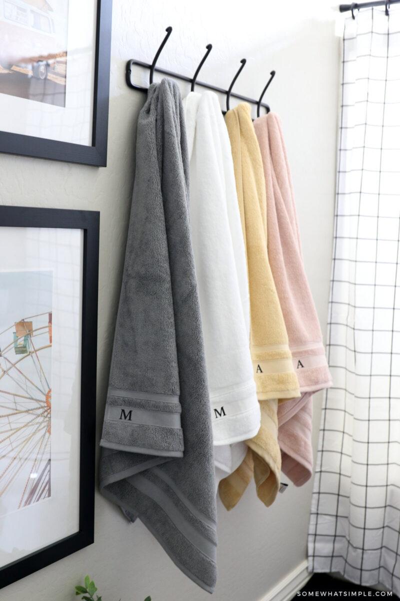 towels in kids bathroom